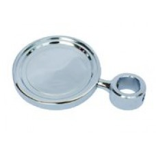 Медальон круглый  металл. покрытие хром