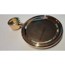 Медальон круглый  металл. покрытие золото