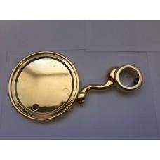 Медальон круглый на кобру на S-обр. ножке, покрытие золото