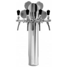 Пивная колонна MAXI ELLISSE, сталь, на 4 сорта