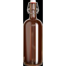 Бутылка с бугельной пробкой (темное стекло) 1 л.