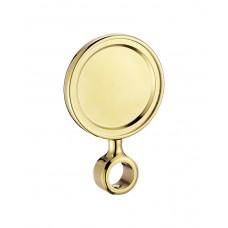 Медальон круглый пластиковый золото