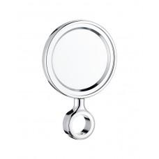 Медальон круглый пластиковый, хром