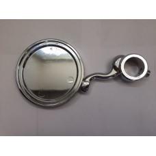 Медальон круглый на кобру на S-обр. ножке, покрытие хром