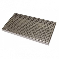 Каплесборник металл, 400х220 нерж. сталь